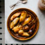 Herbst Müsli mit karamellisierten Birnen
