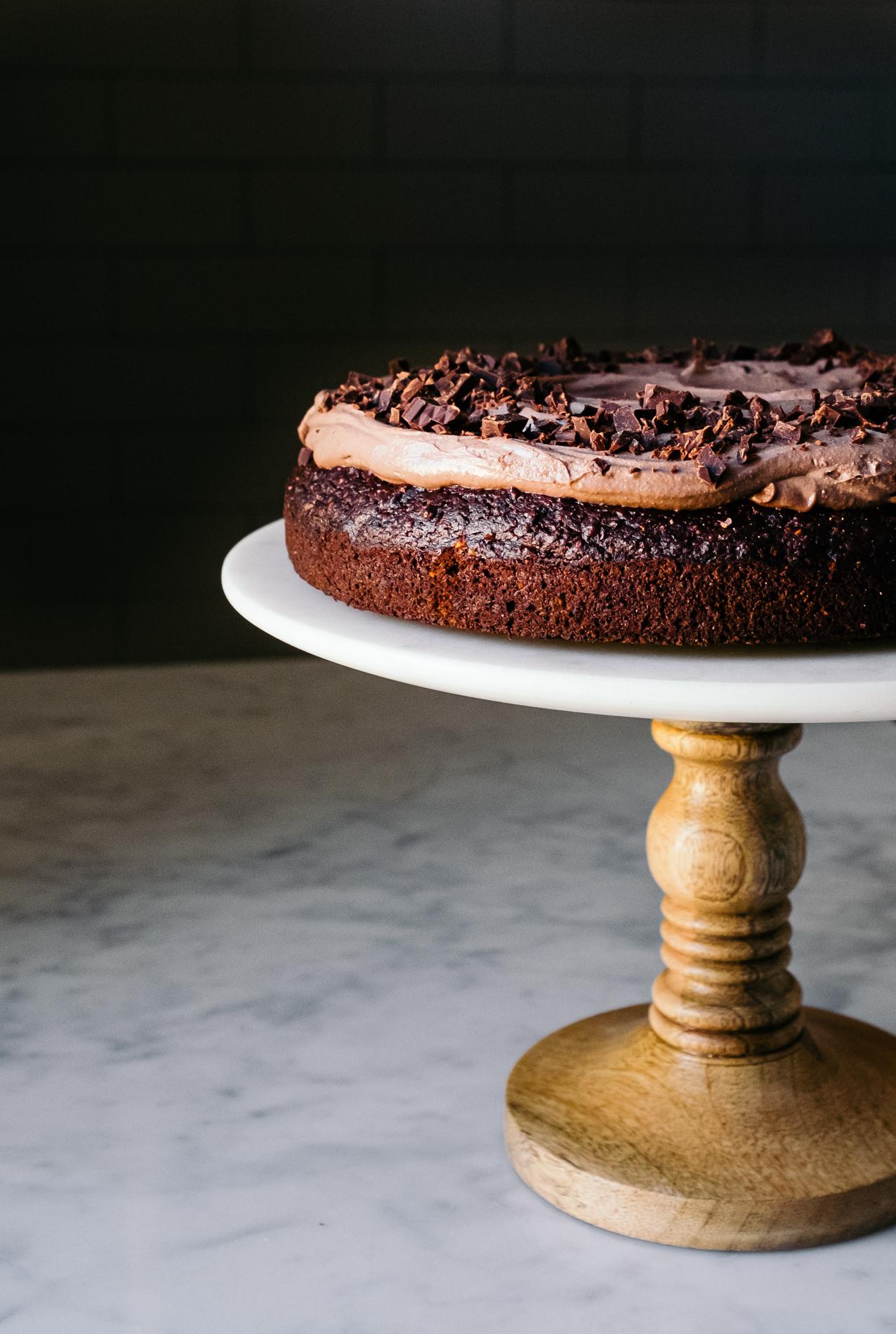 gesunder Schokoladenkuchen mit Rote Beete